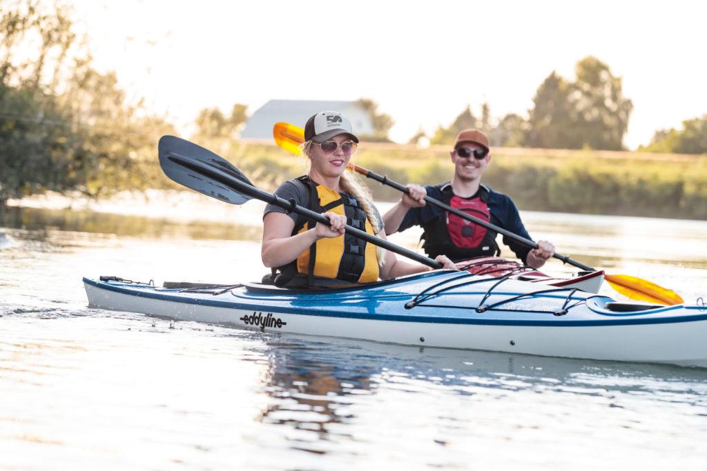 Eddyline Kayaks Couple Paddling
